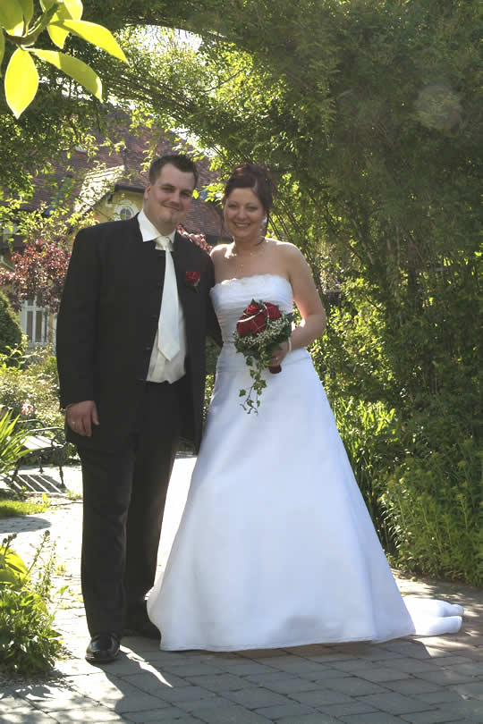 Christina und Andreas an ihrem großen Tag