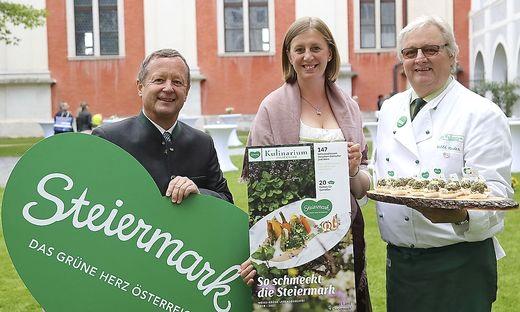 GF Erich Neuhold, LR Barbara Eibinger-Miedl, Willi