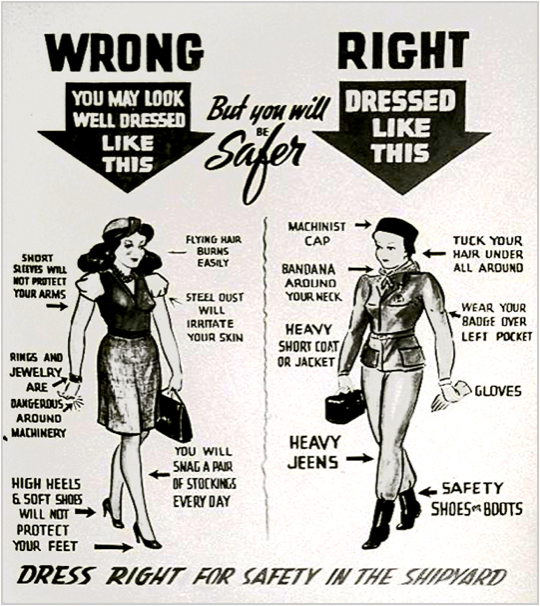 "Shipyard ""Dress Code"" poster from the archives of The Bancroft Library. University of California, Berkeley"