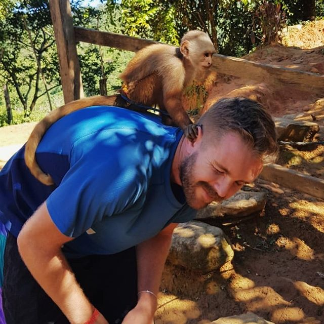 *Plays with one monkey in South America*⁣ ⁣ Brain:⁣ Don't say it ⁣ Don't say it ⁣ Don't say it ⁣ Don't say it ⁣ Don't say it ⁣ Don't say it ⁣ Don't say it ⁣ Don't say it ⁣ ⁣ Me, writing caption: Just monkeying around!
