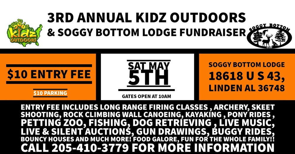 kidz outdoors and soggy bottom lodge event