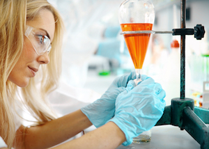 Image of woman performing lab work