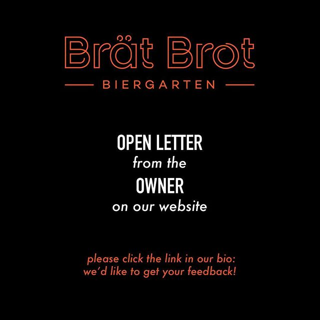 Please help us spread the word! Click the link in our bio to read the letter and fill out the form. Your feedback will determine our direction! Prost!