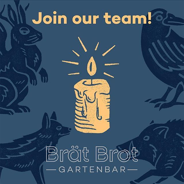 🥨 We want you! 🍺  We are looking for bartenders and kitchen professionals to join our team. Please send resumès to info@bratbrot.com and we'll get back at ya.  #endlesspretzels #teambratbrot #meatbread4eva #holdthesteinnotthemustard #welcometothejunglewegotfunandgames #minceyourmeatnotyourwords