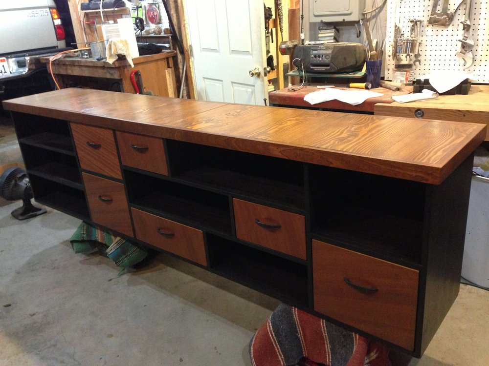 Sapele and reclaimed Douglas Fir Credenza