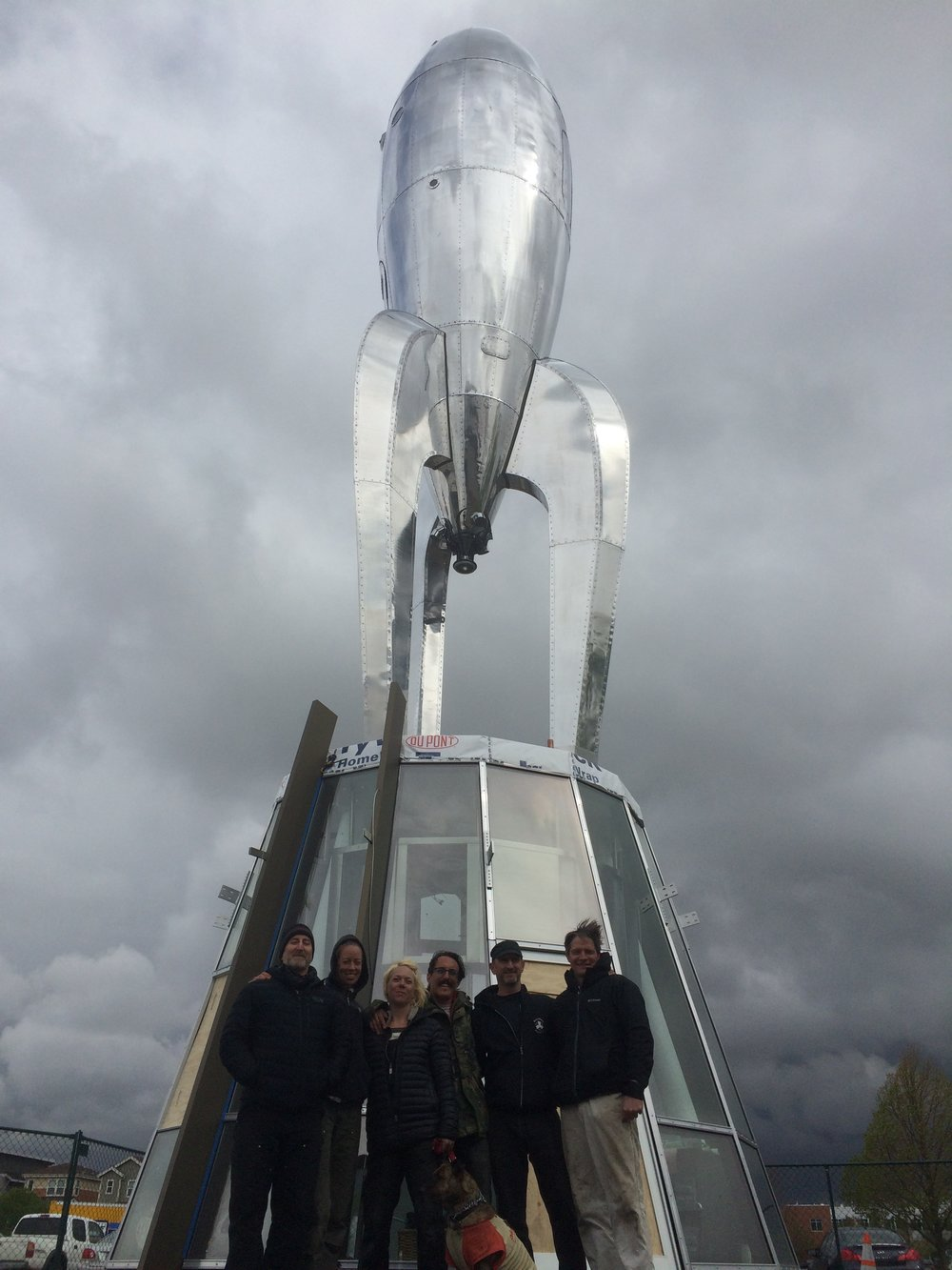 Raygun Gothic Rocketship permanently installed in Denver, CO.