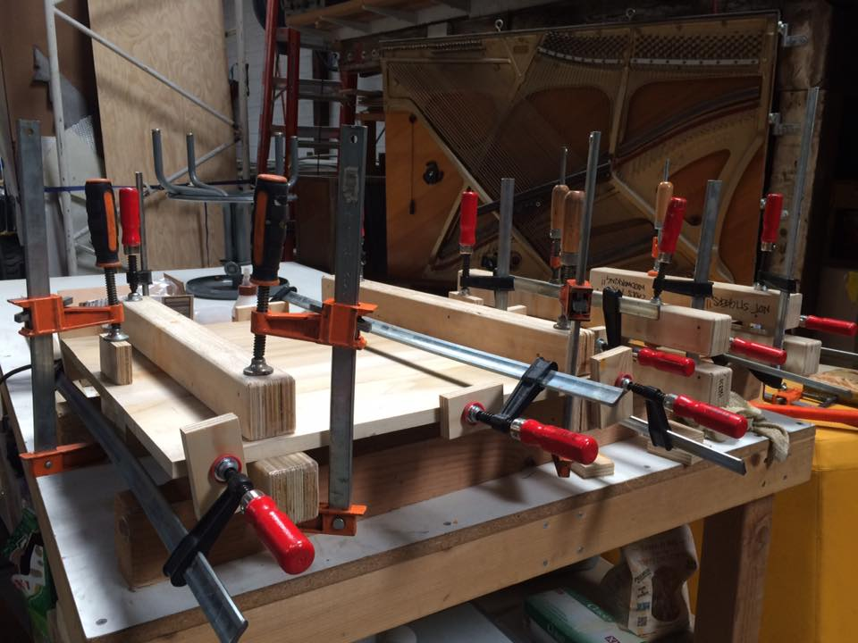 Glue-up in progress