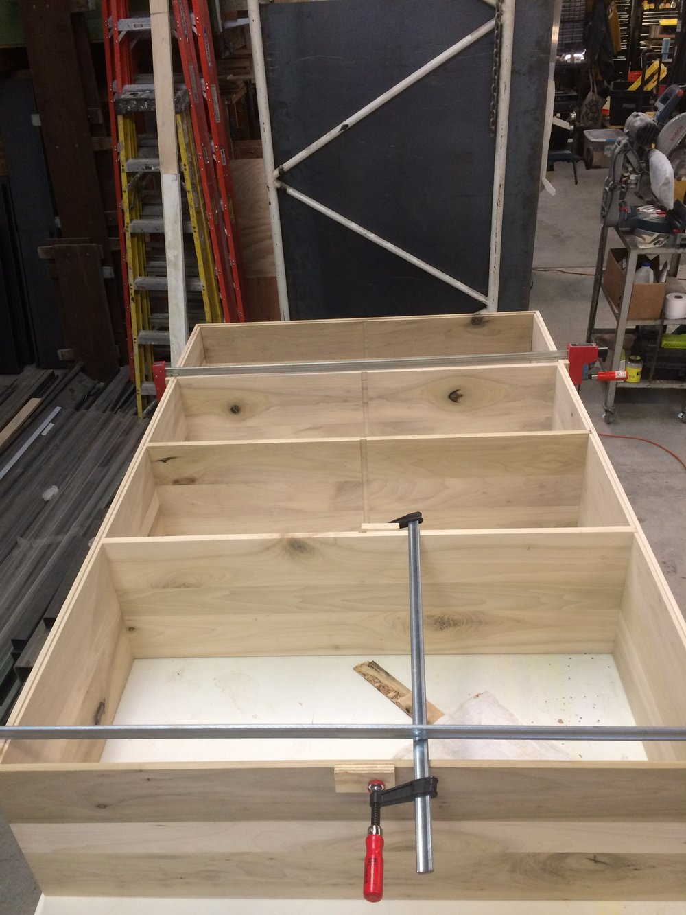 Dry fitting shelves