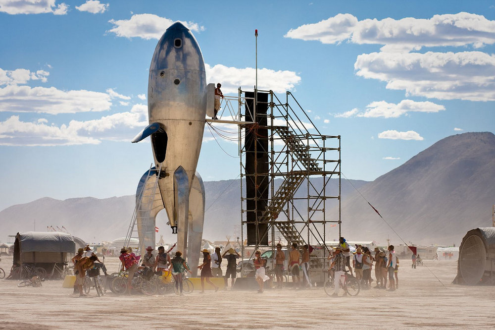 Installed at Burning Man, 2009.