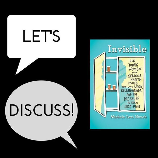 "// I N V I S I B L E // That's exactly how many of us with chronic health conditions feel in our relationships and in our careers. Hi DBC, it's me, Alexandra, (@bookedupblog), and I'm excited to get this party started! I first picked up Invisible after it was recommended to me by some fellow bookstagrammers (@kathareads and @readmollyread) with invisible conditions like mine. I felt that Hirsch perfectly explained many of the anxieties I face with my illness. I'll start our chat off with a few questions of my own, but feel free to comment with anything that's on your mind in regard to this book! . . . ""If you're young and have a chronic illness, chronic pain, or disability of some sort, you should definitely read this book. If you don't deal with any of those things—or know someone who does—you should absolutely read this book.""-Global Comment Did you pick this book up because you have a chronic illness or know someone with a chronic illness? Did it change your perspective at all? . . . Hirsch shares multiple of her own anecdotes as well as those from others she had interviewed. Which of these stories stood out to you the most? . . . Were you surprised at how many of the stories were inter-sectional and mentioned feminist and queer issues as a part of the featured women's health stories? . . . Who would you recommend this book to and why? . . . #invisibleillness #bookdiscussion #chronicillness #dbcsummer #diversebooksclub"