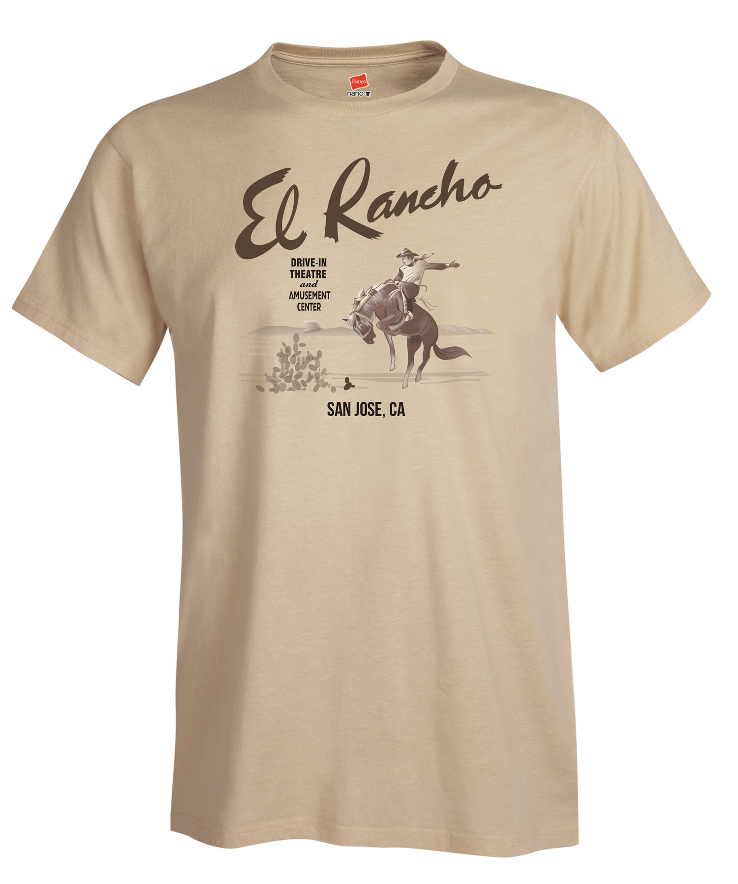 El Rancho Drive In Theater Sign Reproduction T Shirt Vintage Advertising Art The Art Boutiki