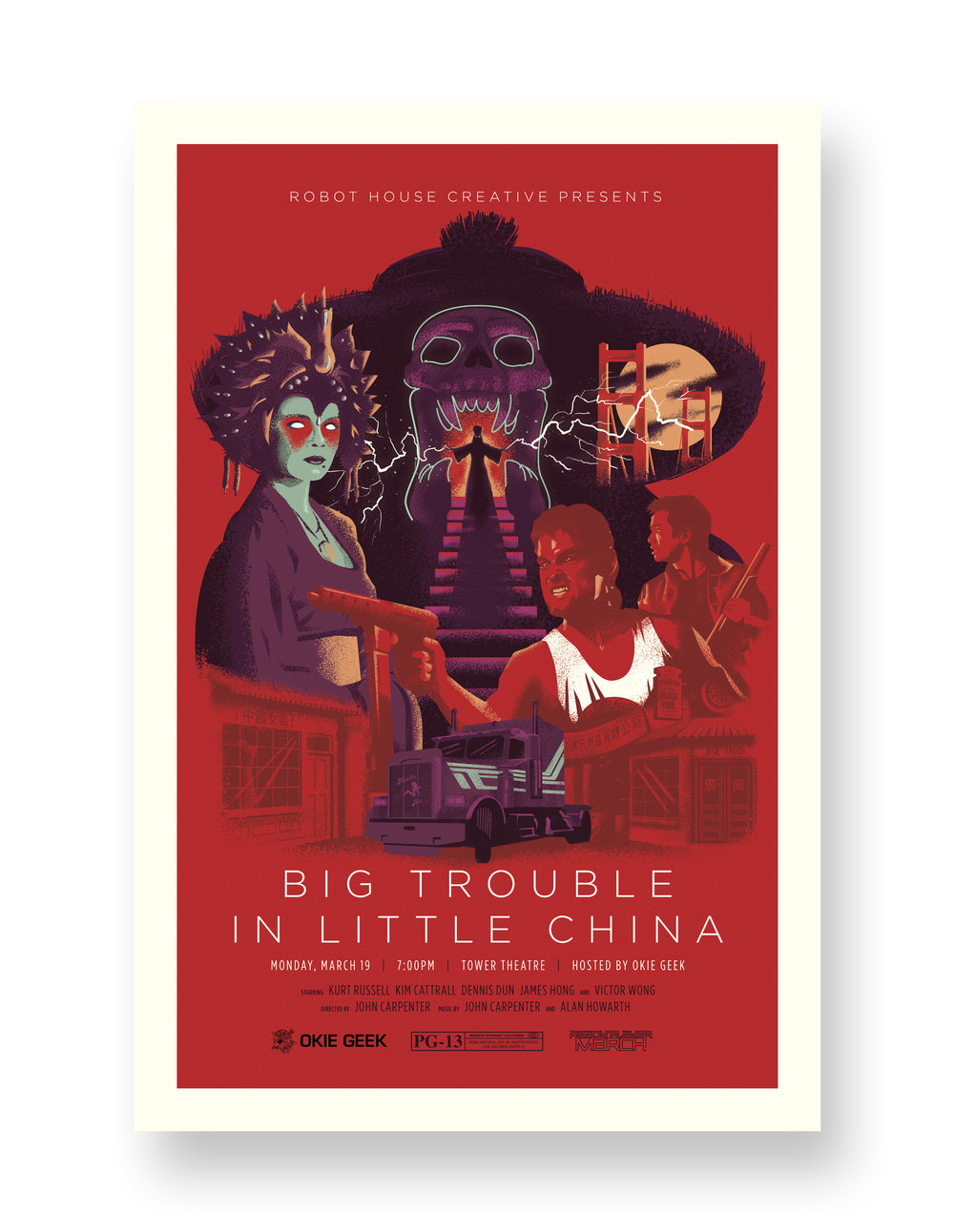 BIG TROUBLE IN LITTLE CHINA TOWER THEATRE VARIANT