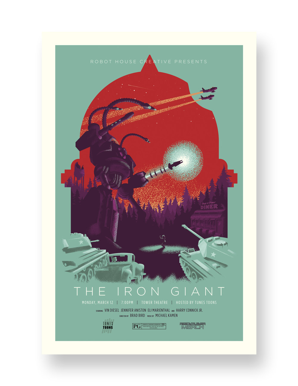 THE IRON GIANT TOWER THEATRE VARIANT