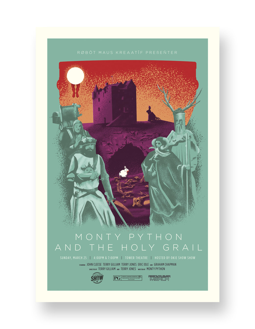 MONTY PYTHON AND THE HOLY GRAIL TOWER THEATRE VARIANT