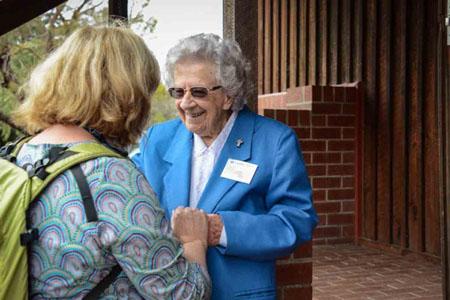 Carmel Hall MSS welcomes pilgrims to Bruny Island.