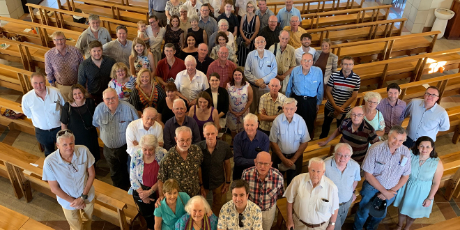 Those who lived and worked in East Timor gathering at St Joseph's, Gregory Terrace for a final time to give thanks and to remember . (Photo: Catholic Leader)