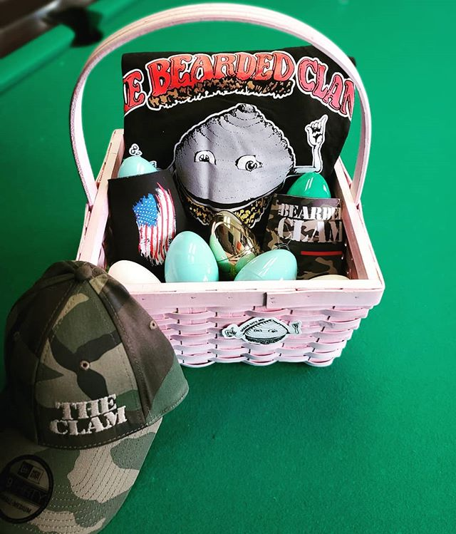 What are you putting in your Easter basket?  We have Shirts, Hats, Koozies, Shot Cups and more.  Swing on by to grab your swag! #easterbasket  #ilovethisbar #favbar #bestbar #beardedclam #daclam #beardedclamocmd #beardedclambar #wehavethebestcustomers #ocmd #oceancitymd #oceancitymaryland #everythingoc #familybusiness