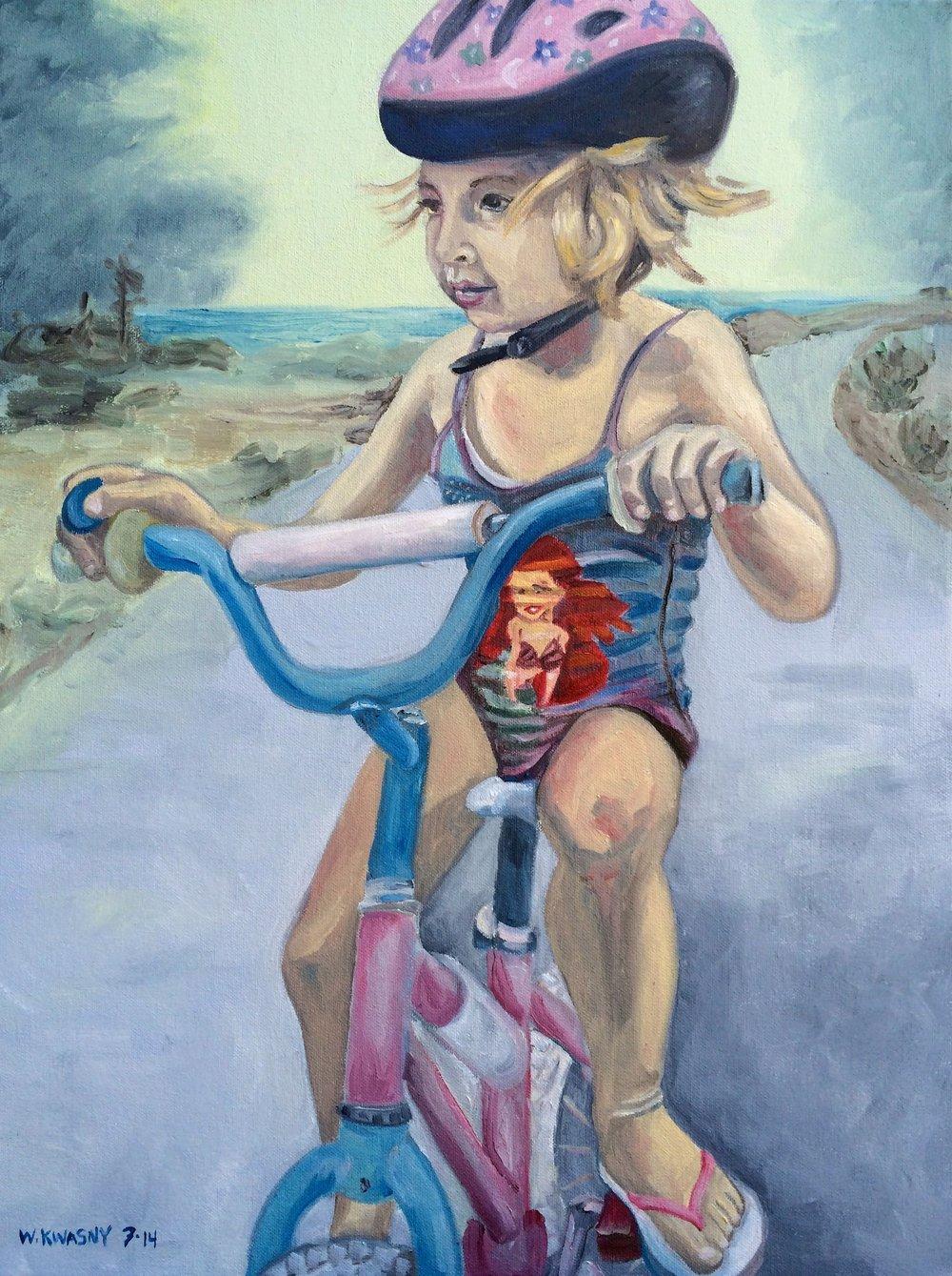 Ivy on Bike