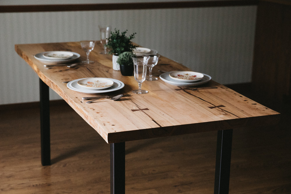 BIG TOOTH CO Live Edge Dining Table Ash 14 Of 31JPG