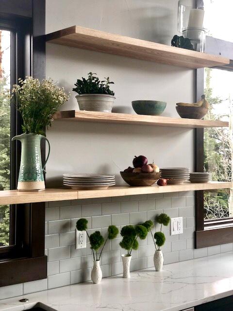 Ash floating shelf