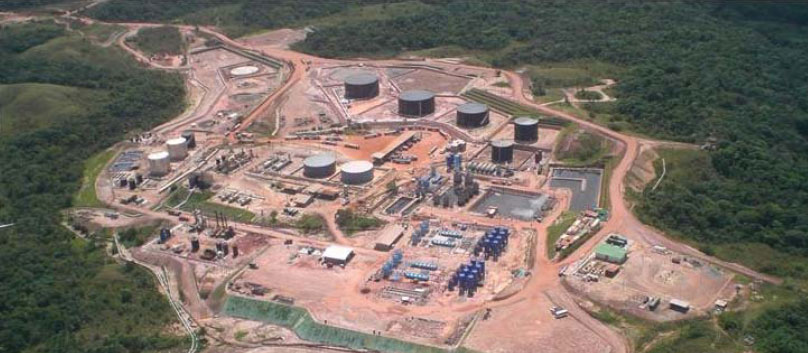 Above:  Oil production at Rubiales, Columbia