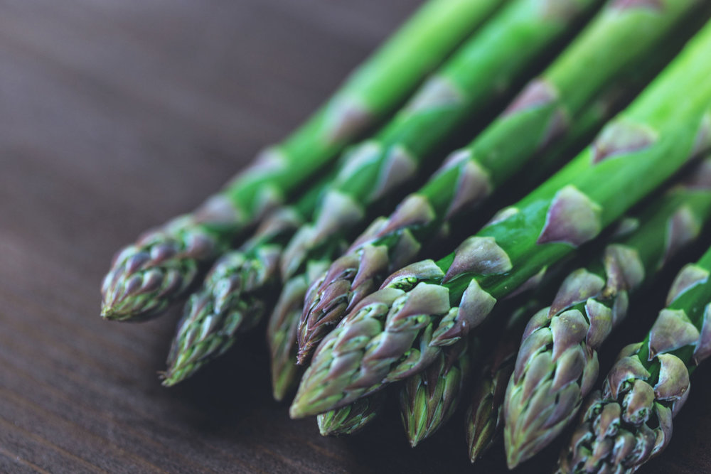 This beautiful asparagus is sadly not from our garden. Did you know it takes 3 years for asparagus to grow?! Ain't nobody got time for that.