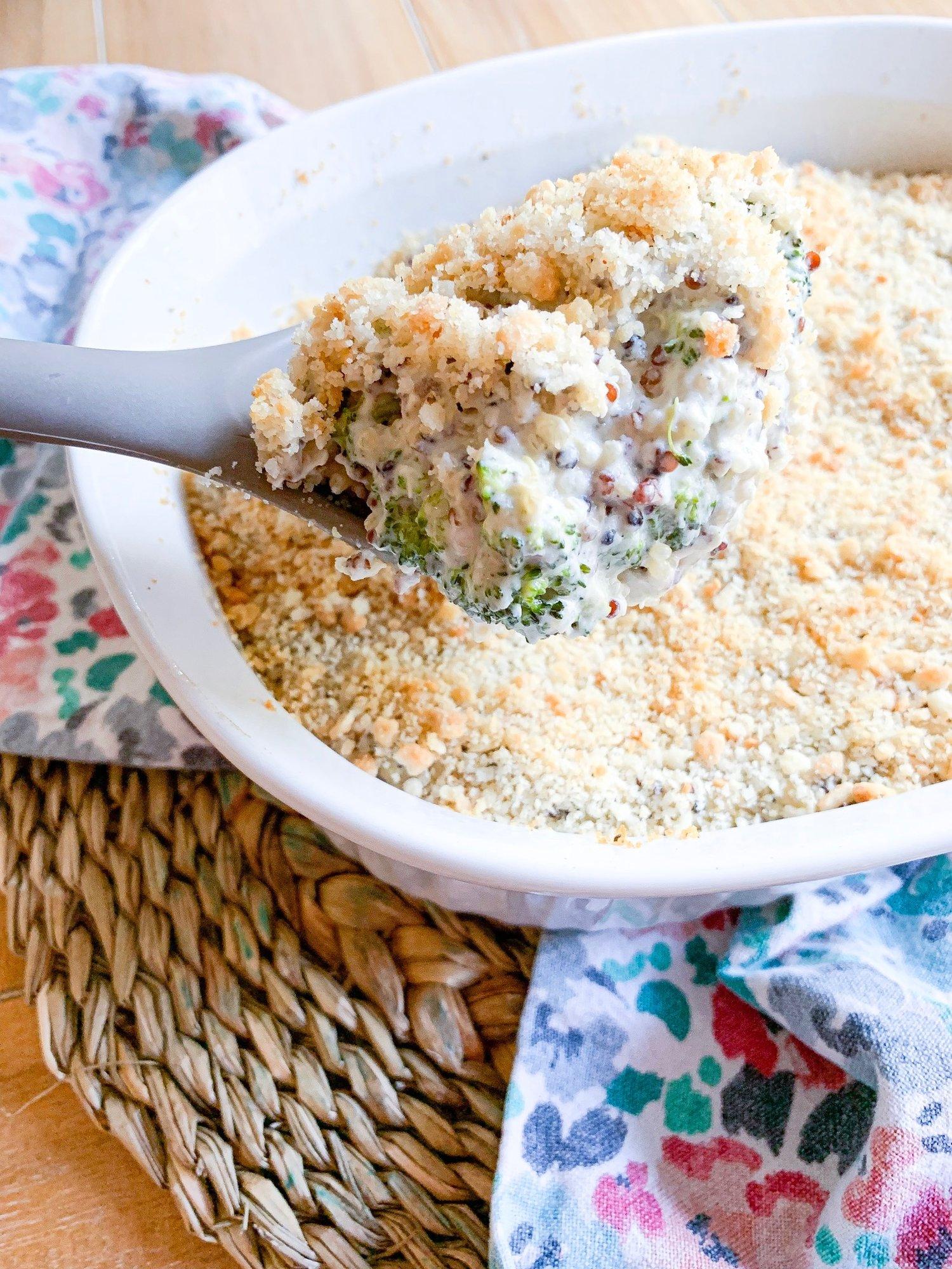 Broccoli+quinoa+casserole