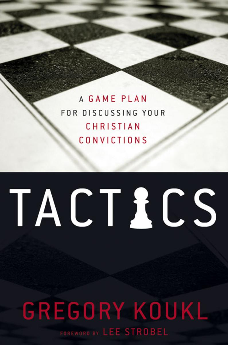 Tactics - In Tactics, Gregory Koukl demonstrates how to artfully regain control of conversations, keeping them moving forward in constructive ways through thoughtful diplomacy. You'll learn how to maneuver comfortably and graciously through the minefields of a challenging discussion, how to stop challengers in their tracks, and how to turn the tables on question or provocative statement. Most importantly, you'll learn how to get people thinking about Jesus.