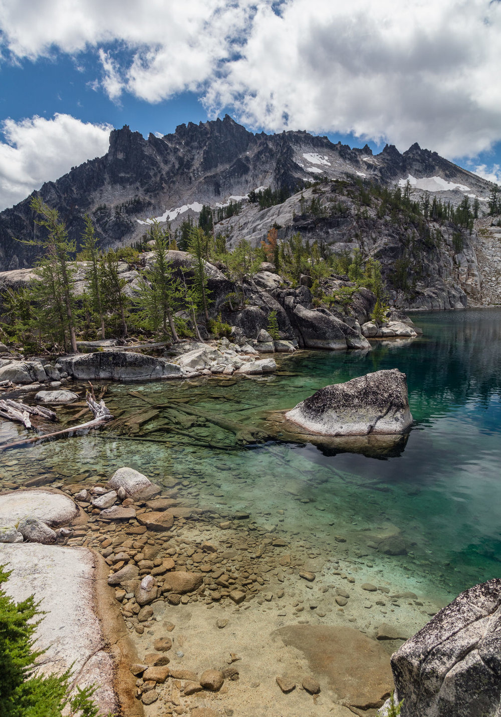 First views of the Enchantments from Lake Viviane