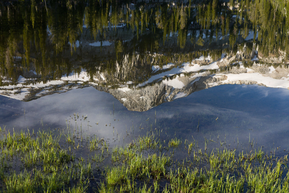 Eagle Cap reflection near Moccasin Lake in the Wallowas