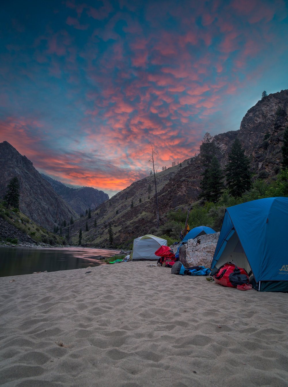 Sunrise over the Middle Fork of the Salmon River