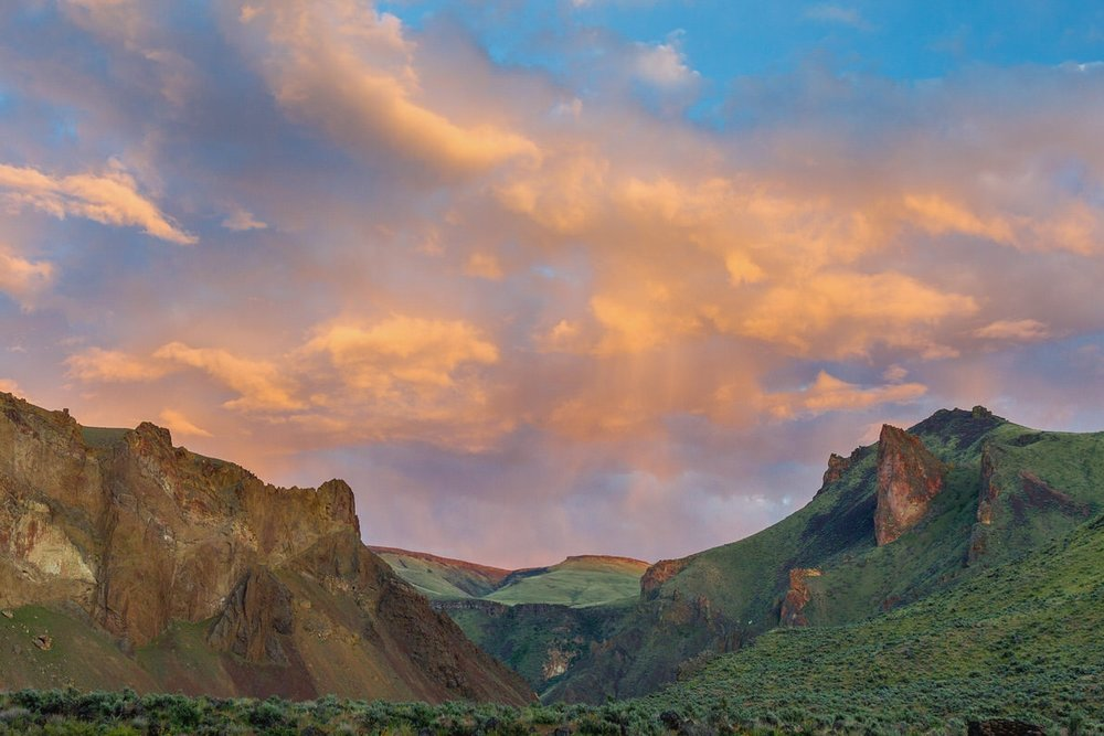 Sunset at Greely Bar on the Owyhee