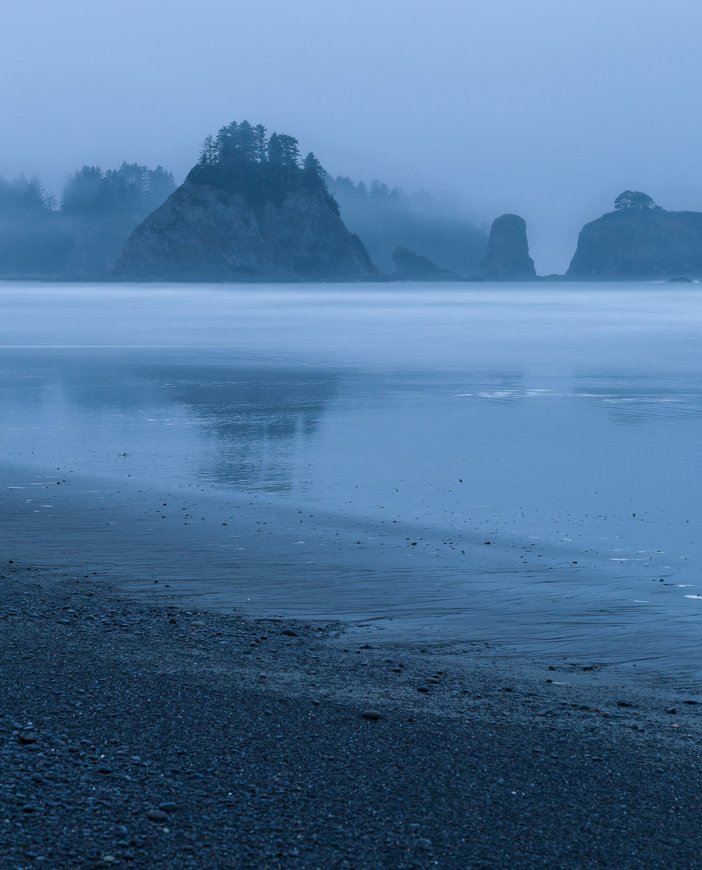 The blue hour at Rialto Beach
