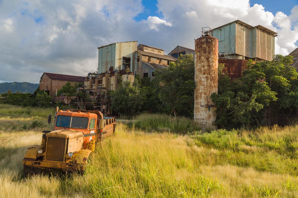 The old sugar cane mill in Koloa, Kauai