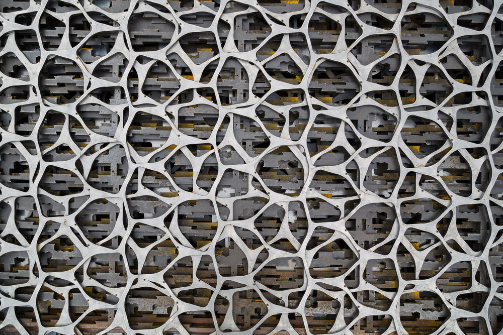 Abstract patterns in the scrap metal pile at Kni-Co Manufacturing