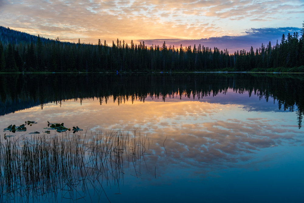 Morning sky at Bench Lake (near Bird Creek Meadow)