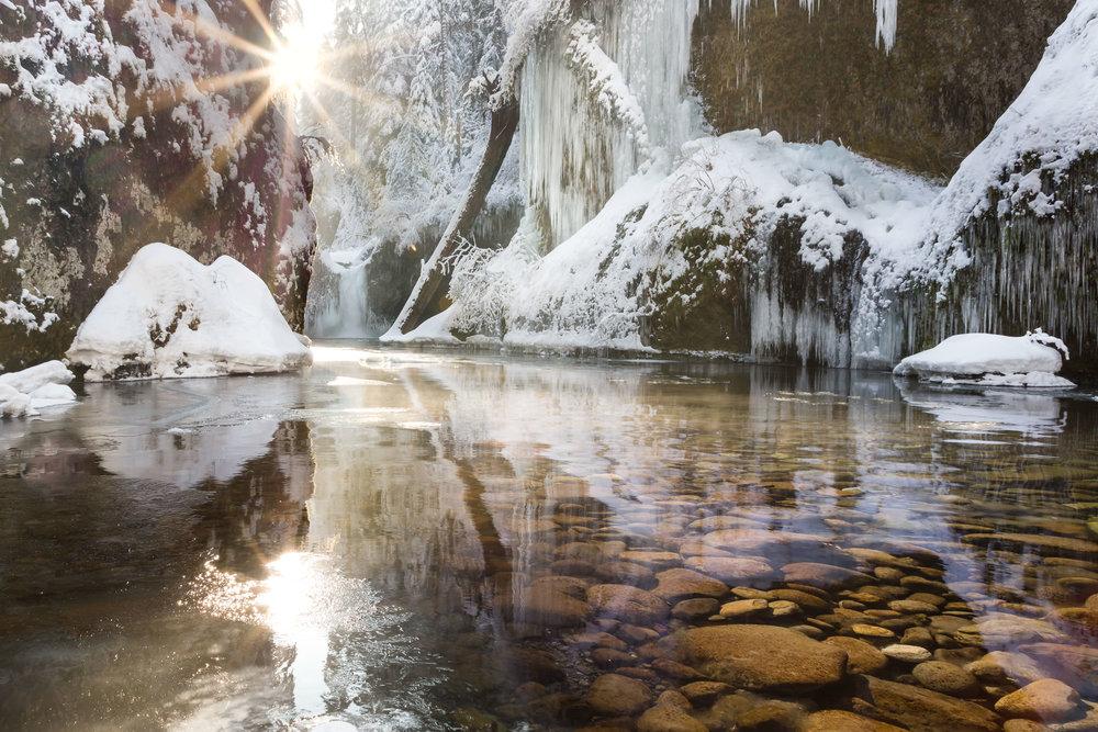 Icy Scene at Punchbowl Falls