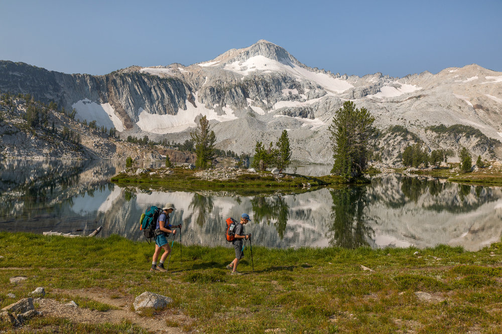 View of Eagle Cap as we left Glacier Lake to hike back out to the Two Pan Trailhead