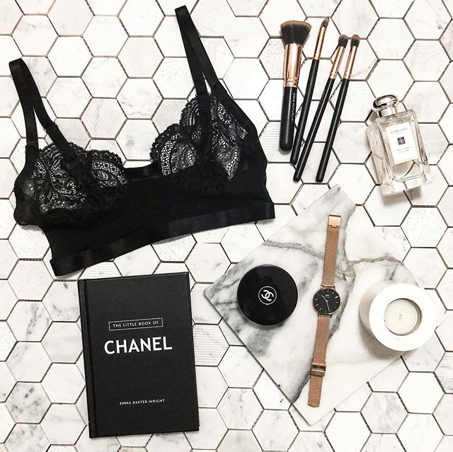 THE SECRET to gaining loyal followers is to consistently post a variety of high quality content!  Flatlays are a great way to feature your products in a tasteful and aesthetic way. We styled ours featuring lingerie by @wandervixen 😍 Are you a fan of fashion/beauty #flatlays? ✨ #style #lingerie #LAmade
