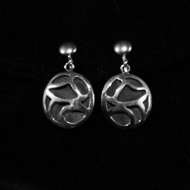Abstract Cut Out Earrings