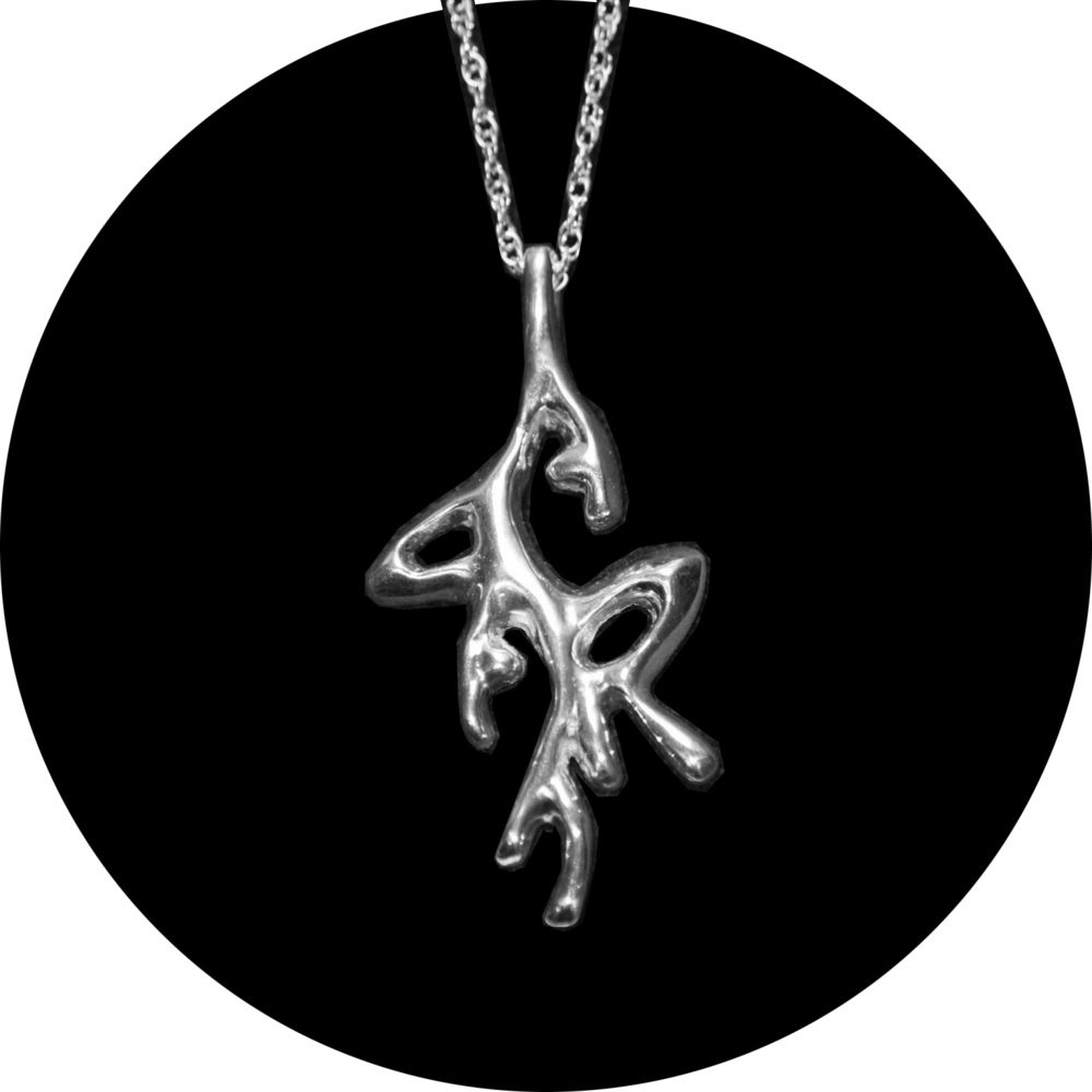 Abstract Initials Pendant