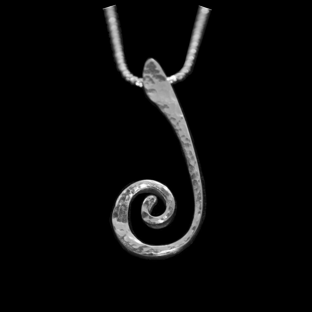 Silver 'J' Pendant