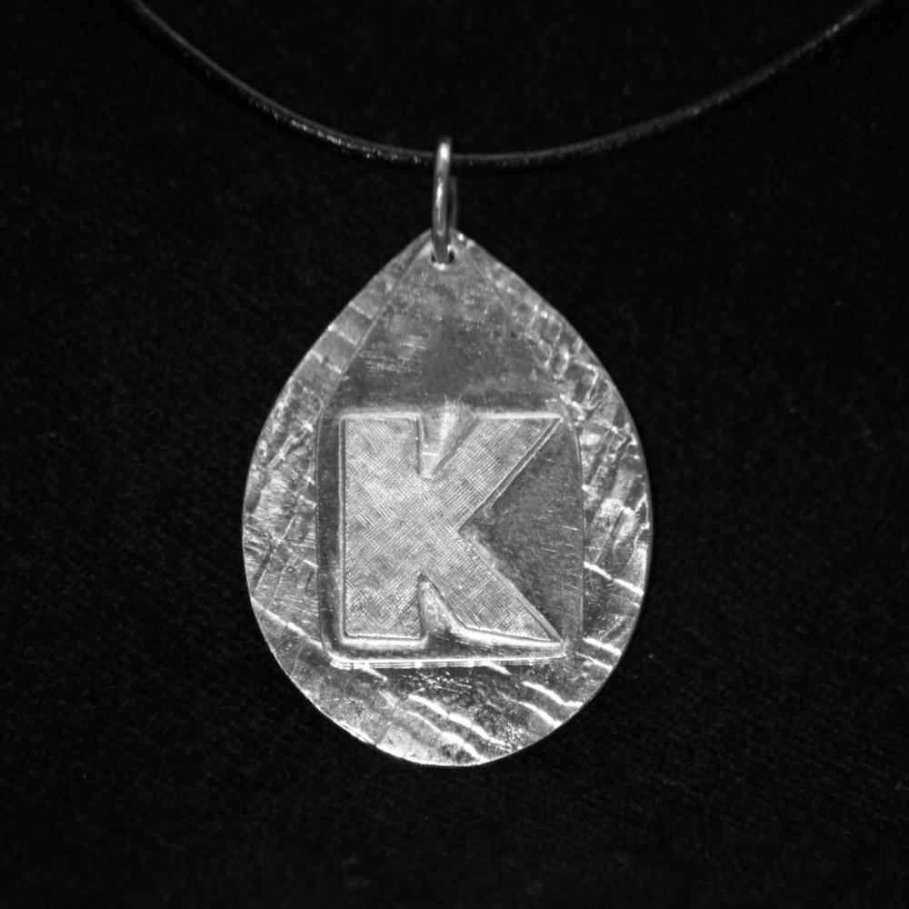 Silver 'K' Pendant