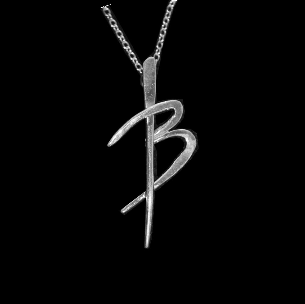 Silver 'B' Pendant
