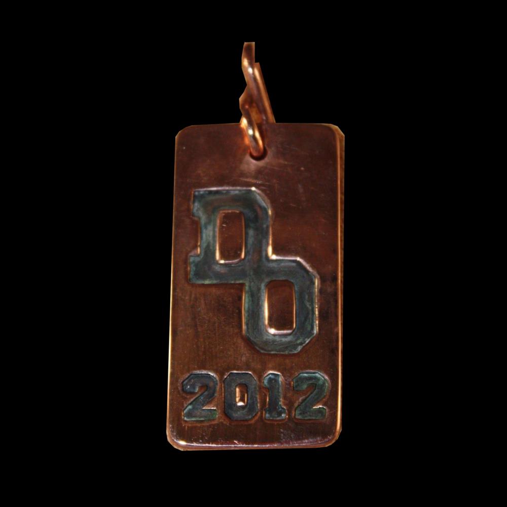 Graduation Copper Key Fob or Pendant