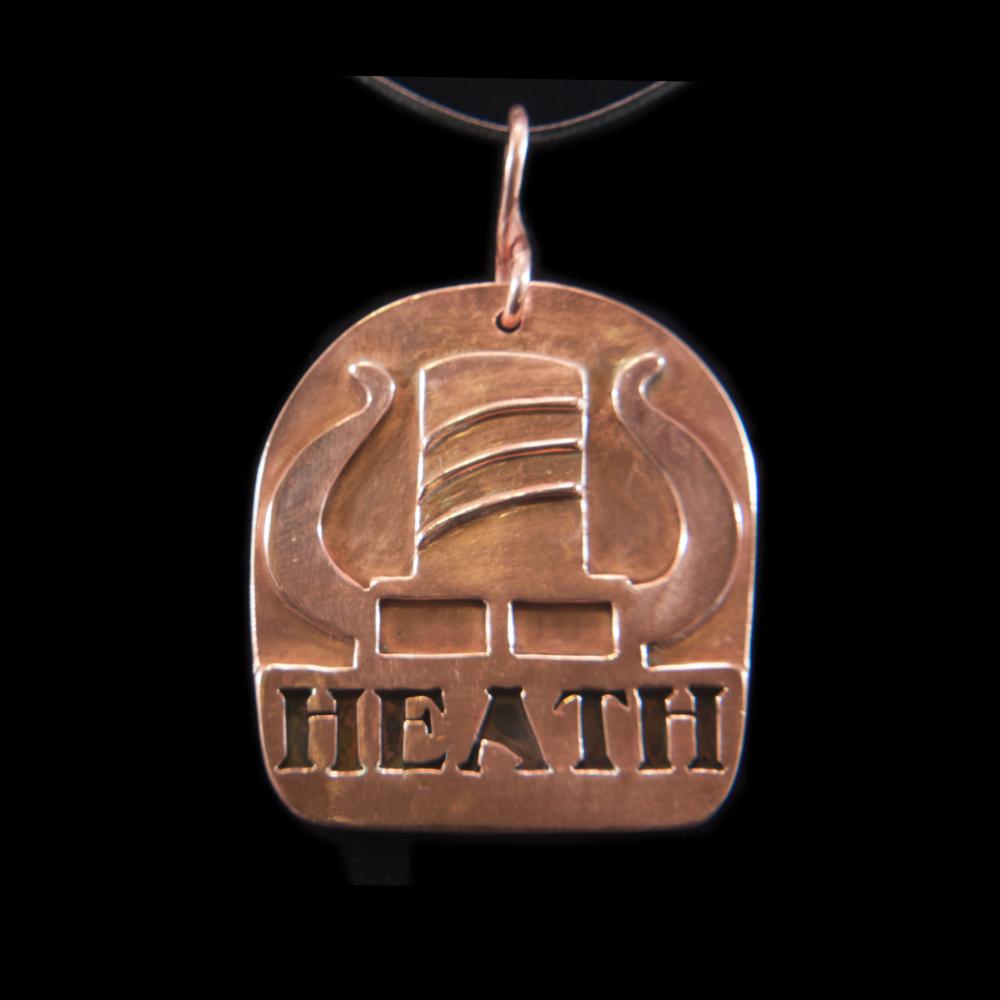 Copper Key Fob or Pendant