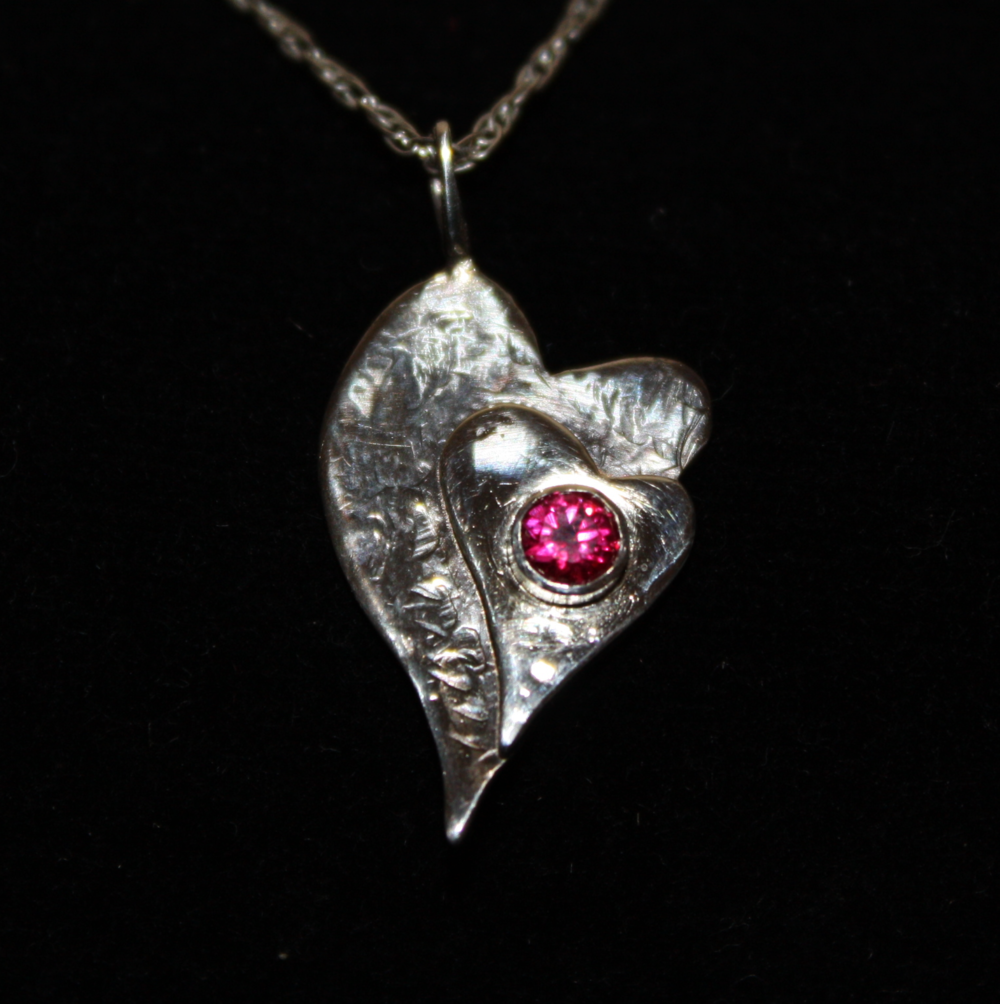 Heart Pendant with Ruby 2