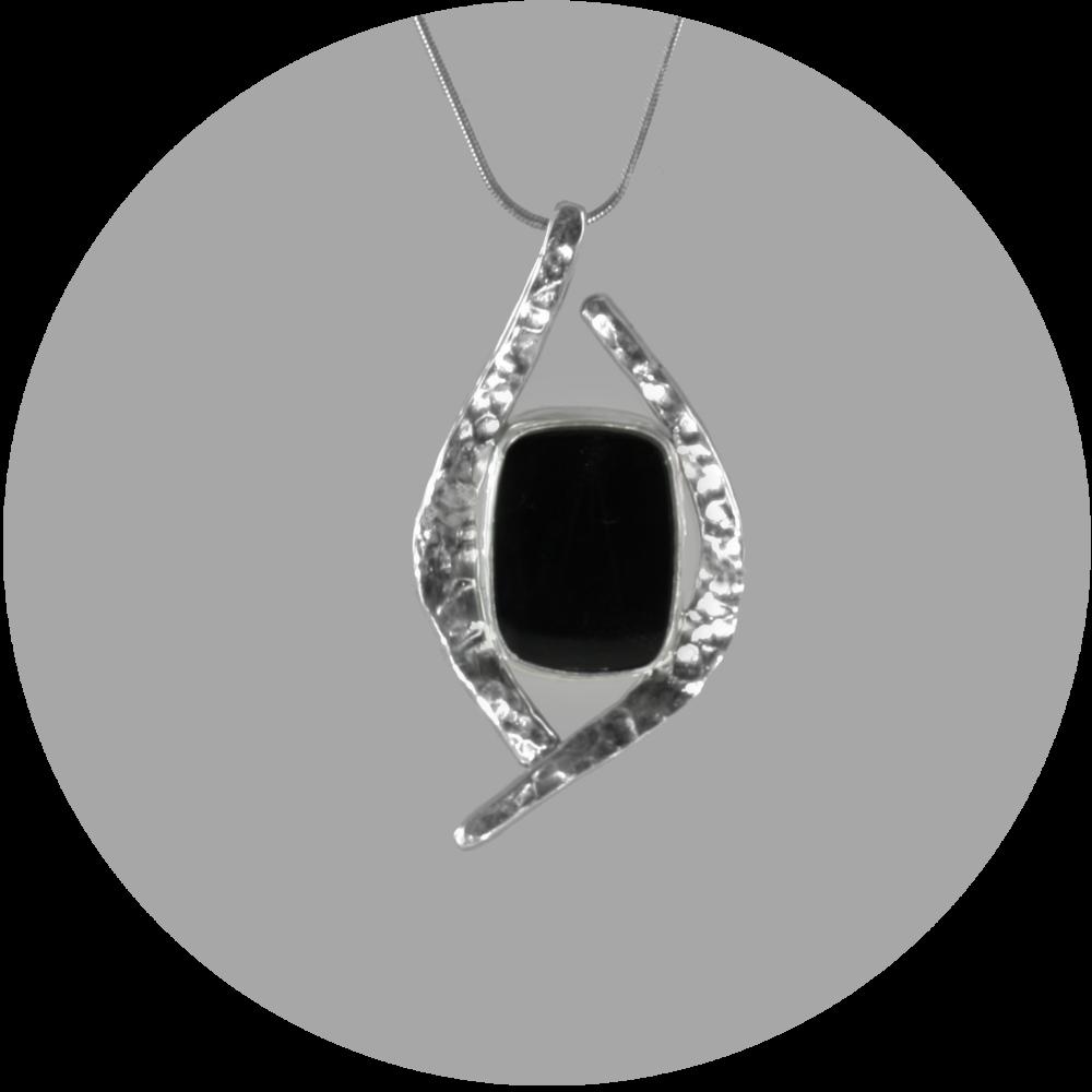Black Chalcedony Pendant