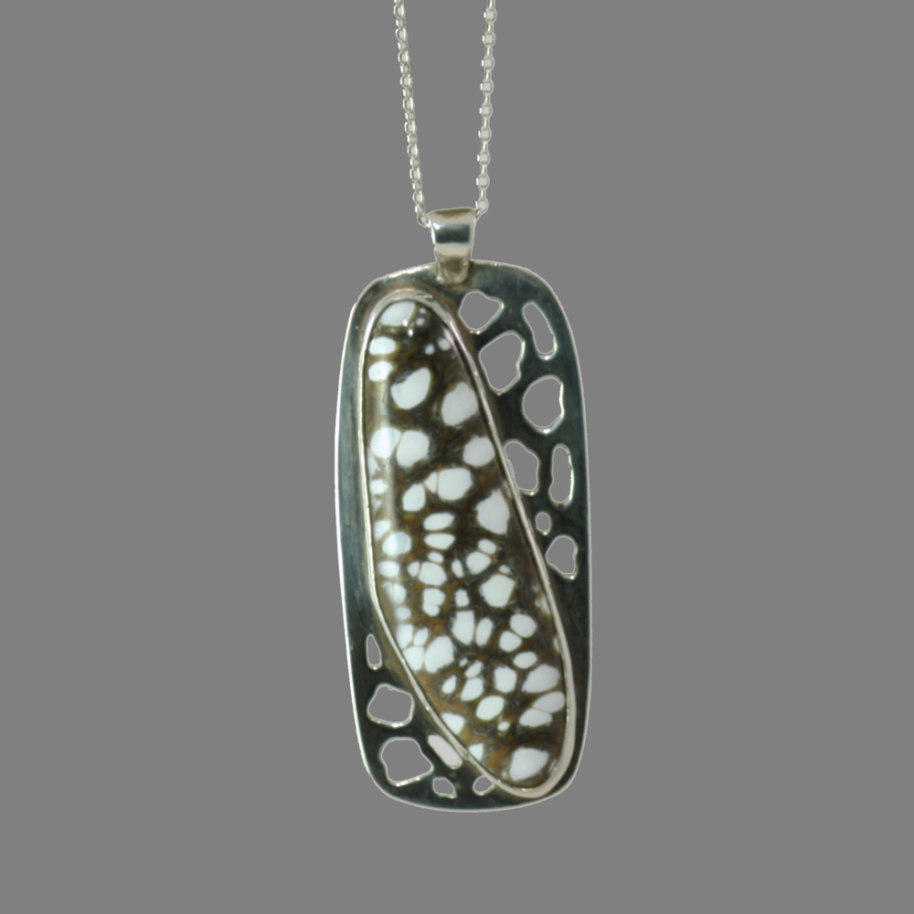 Cutout Pendant with Art Glass