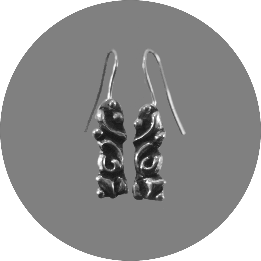Abstract cast earrings